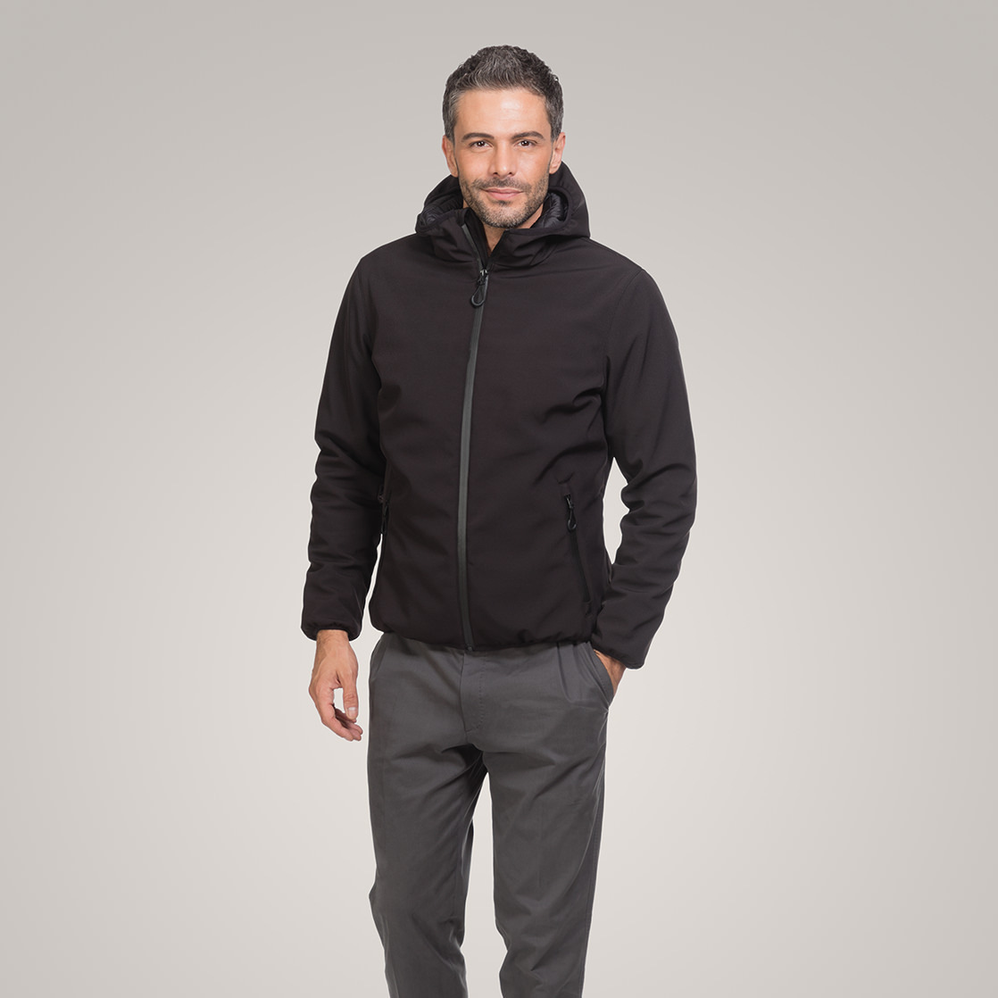 Padded Jacket in soft shell fabric