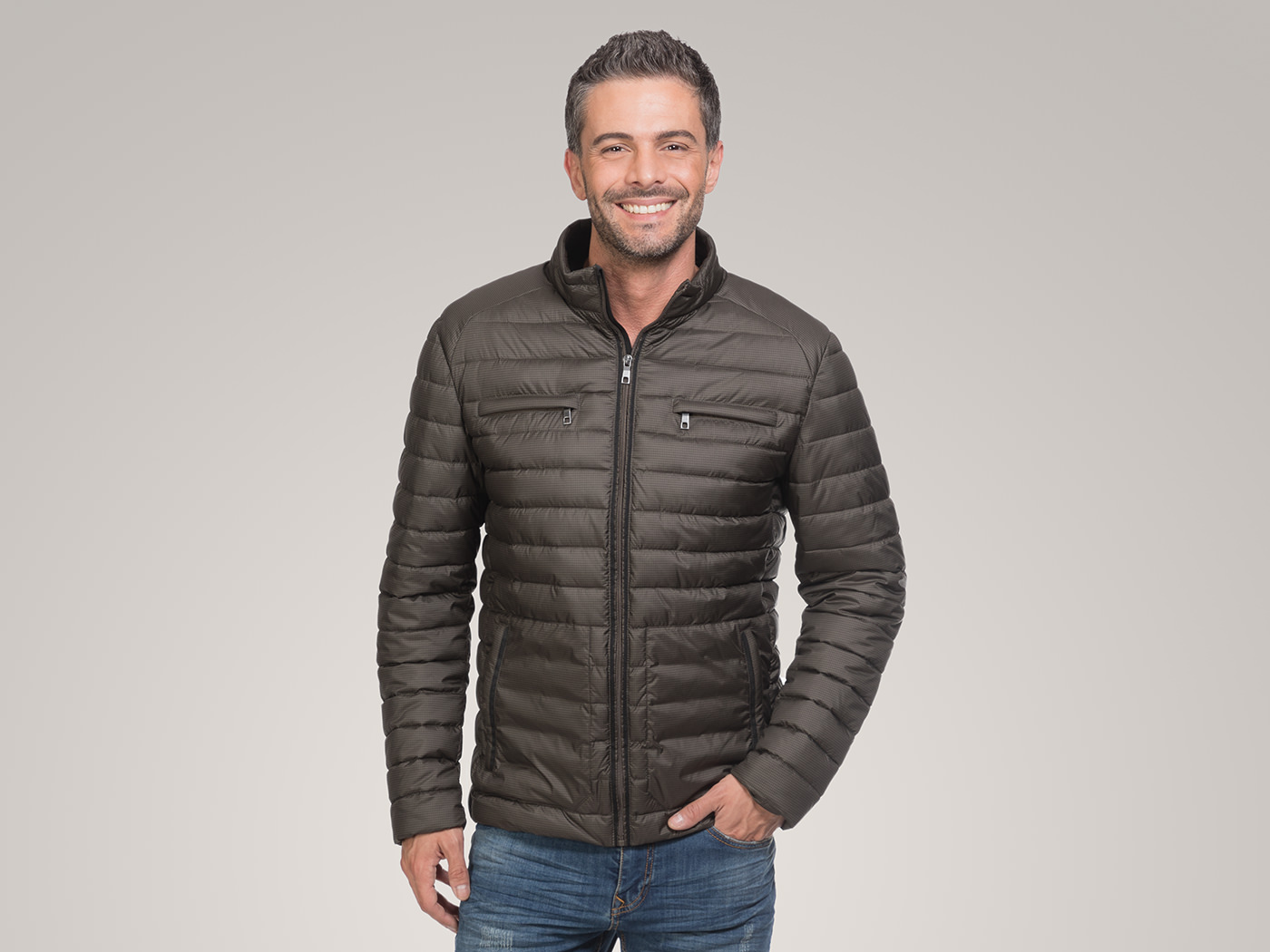 Padded Jacket in micro-design fabric